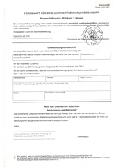 Unterschriften-Unterstützung für Margit Ricarda Rolf