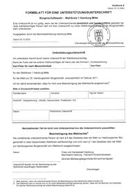 Zur Bürgerschaftswahl benötigt Karl-Peter Grube 100 Unterstützungsunterschriften